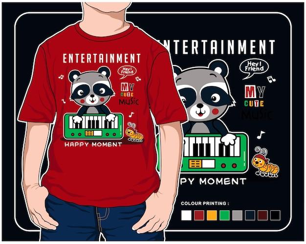 Entertainment muziek vector dier cartoon illustratie ontwerp grafisch om af te drukken