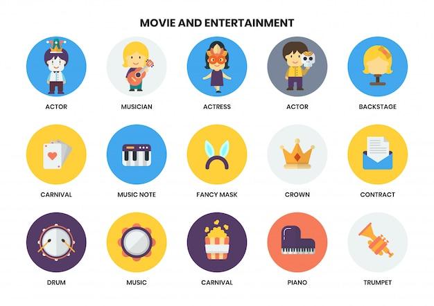 Entertainment pictogrammen instellen voor het bedrijfsleven