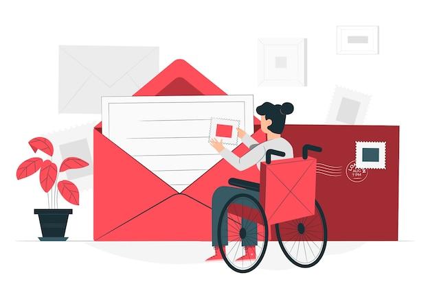 Envelop concept illustratie
