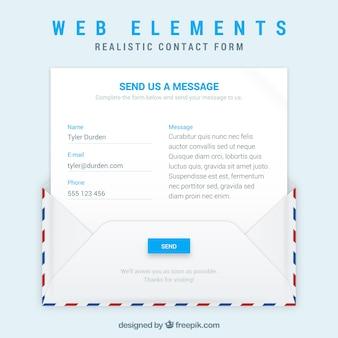 Envelop en e-mail sjabloon met het contactformulier