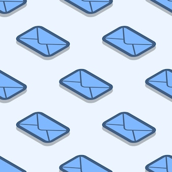 Envelop naadloos patroon. vector mail textuur gemaakt met verzegelde envelop pictogrammen in vlakke stijl