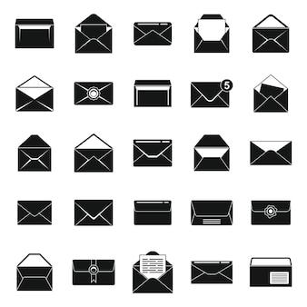 Envelop pictogrammen instellen eenvoudige vector. blanco e-mail