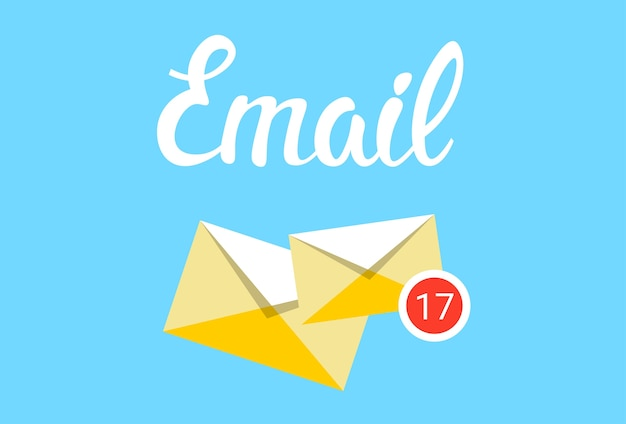 Envelope email inbox message send business mail