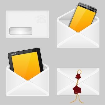 Enveloppen met slimme telefoon