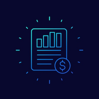 Eps, winst per aandeel lijn vector icon vector