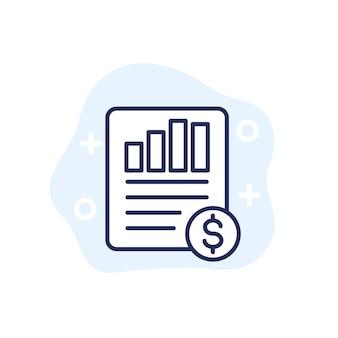 Eps, winst per aandeel lijnpictogram