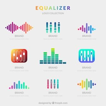 Equalizer-logoverzameling met verloopstijl