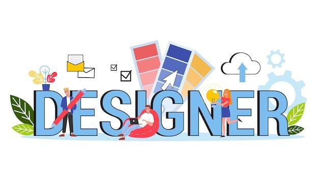 Er webbanner ontwerpconcept. idee van grafisch ontwerp