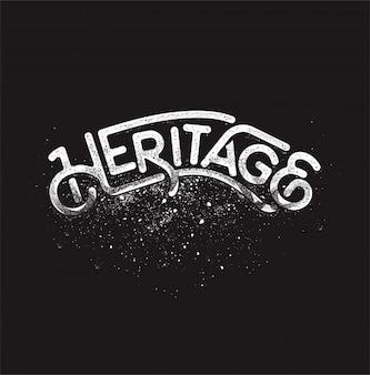 Erfgoed tekst typografie vector