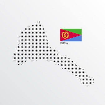 Eritrea kaartontwerp met vlag en lichte achtergrond vector
