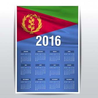 Eritrea kalender van 2016