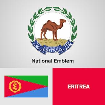 Eritrea national emblem and flag
