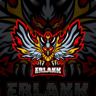 Erlank esport mascotte logo