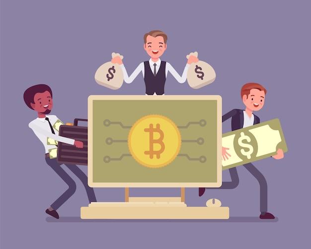 Ervaren handelaren en investeerders in cryptocurrency