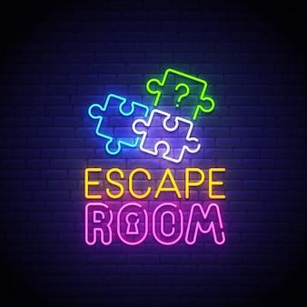 Escape room neonreclame