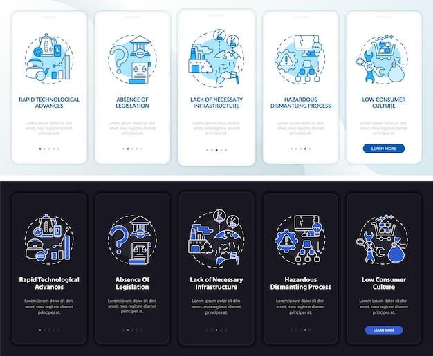 Escrap beheer problemen bij het aan boord gaan van het paginascherm van de mobiele app met concepten