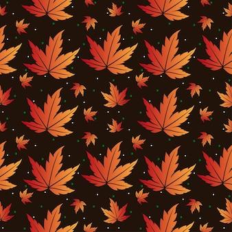 Esdoorn tropische bladeren naadloze patroon achtergrond