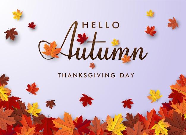 Esdoornblad herfst banner vector achtergrond