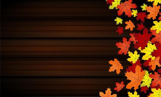 Esdoornblad herfst hout achtergrond