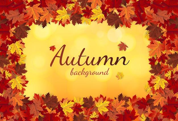 Esdoornblad herfst oranje vector background