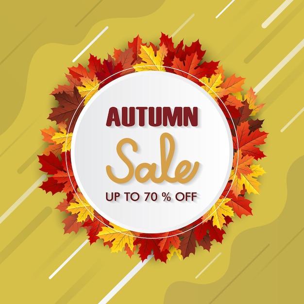 Esdoornblad herfst vector achtergrond