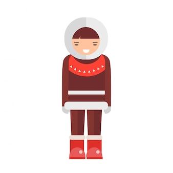 Eskimo vectorillustratie.