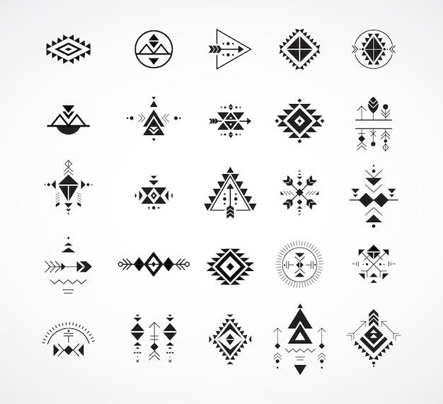 Esoterisch, alchemie, heilige geometrie, tribale en azteekse elementen