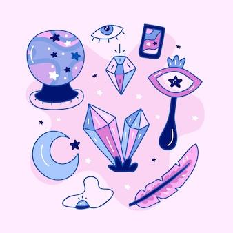 Esoterisch mystiek elementenconcept