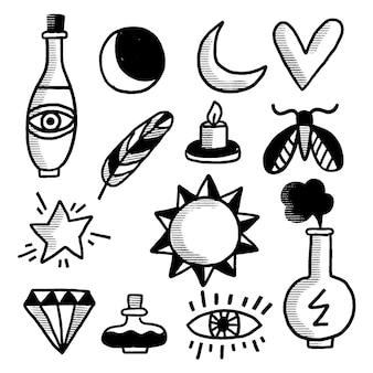 Esoterische elementen collectie
