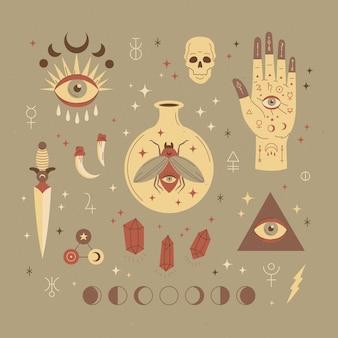 Esoterische elementen concept