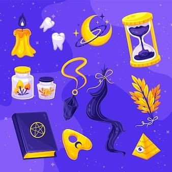 Esoterische elementen illustratie concept