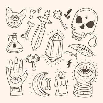 Esoterische mystieke elementen