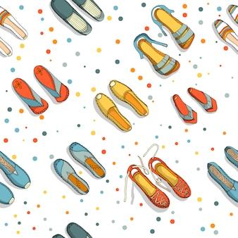 Espadrilles naadloos patroon