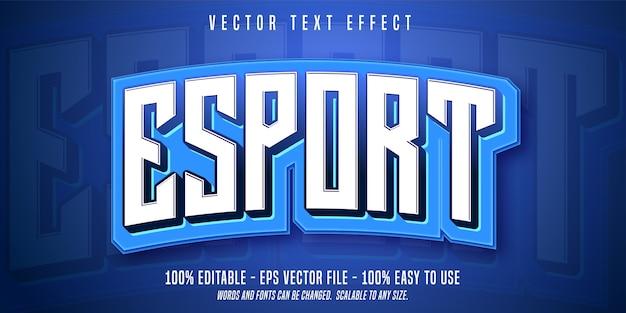 Esport bewerkbare tekst illustratie in plat ontwerp