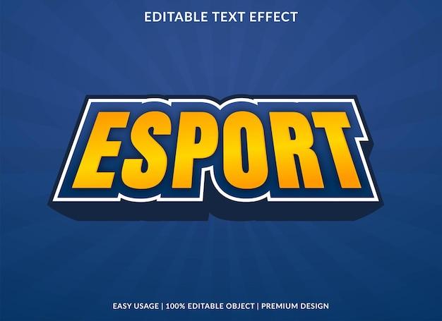 Esport bewerkbare teksteffectsjabloon premium vector