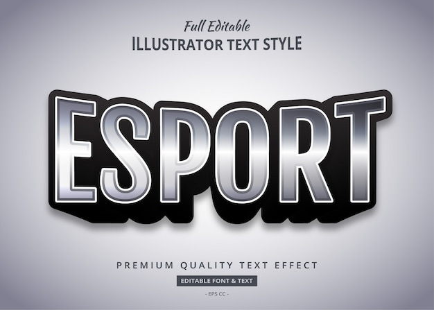 Esport game text style effect