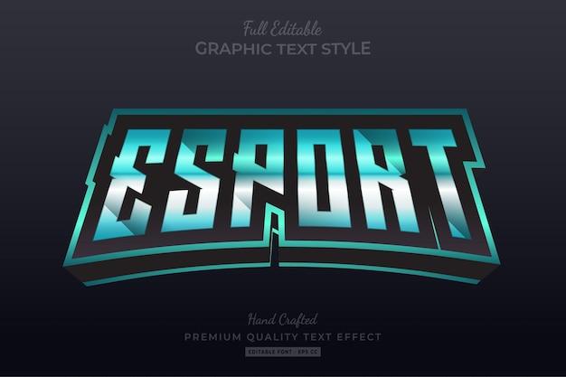 Esport gaming team bewerkbare teksteffect lettertypestijl