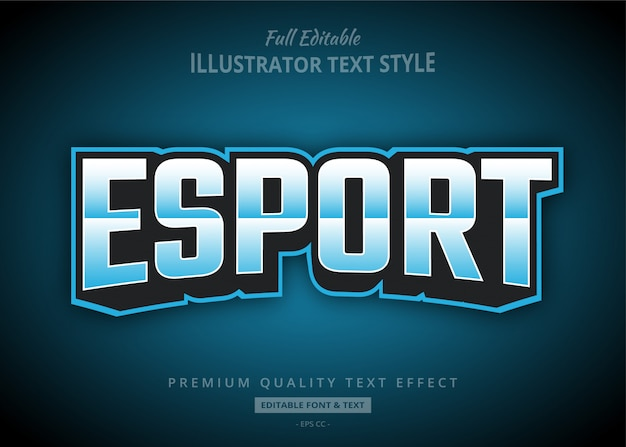 Esport gaming team text style effect