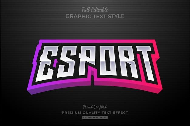 Esport gradient bewerkbare tekststijl effect premium