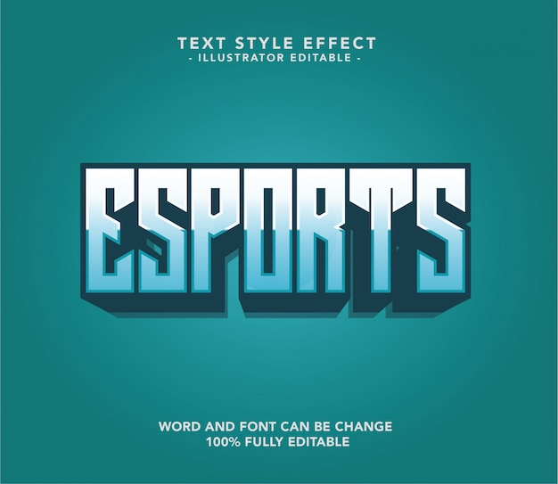 Esport-lettertypetekst