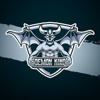 Esport logo demon koning karakter icoon