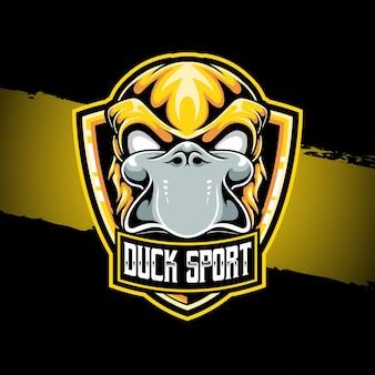 Esport logo eend sport karakter icoon