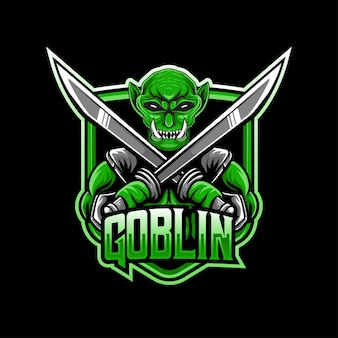Esport logo goblin karakter pictogram