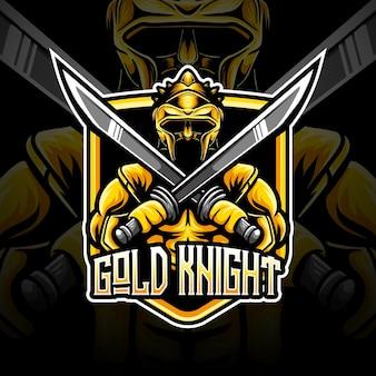 Esport logo gouden ridder