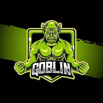 Esport logo illustratie goblin