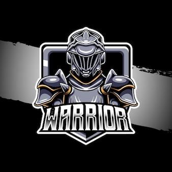 Esport logo krijger karakter icoon