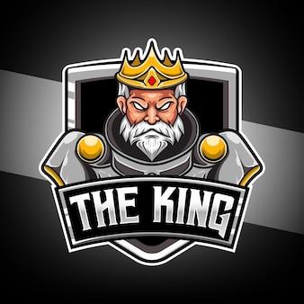 Esport-logo met koningskarakter