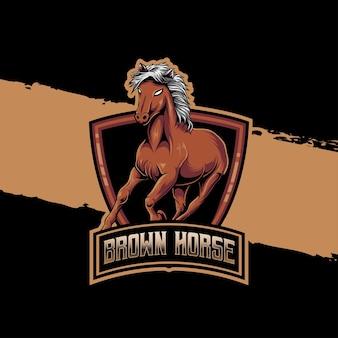 Esport logo paard karakter icoon