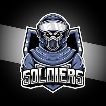Esport logo soldaten karakter