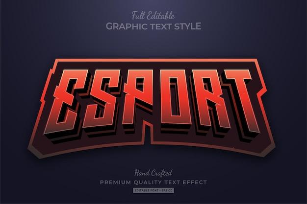 Esport red flame bewerkbare teksteffect lettertypestijl